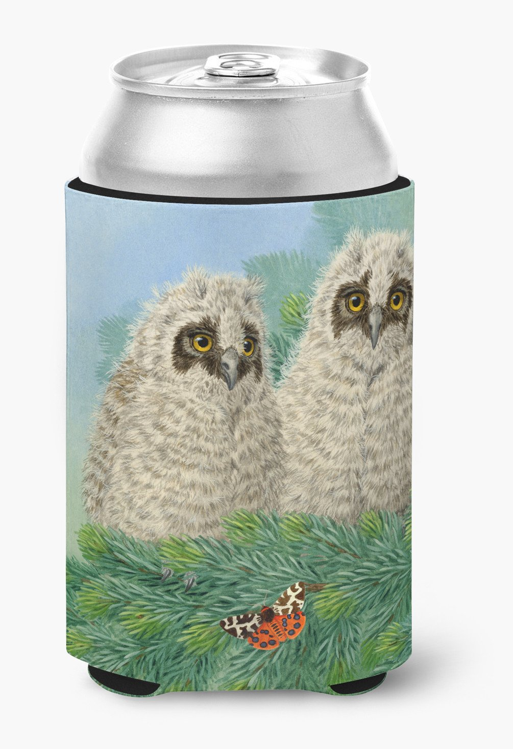 Owlets and Butterfly by Sarah Adams Can or Bottle Hugger ASAD0724CC by Caroline's Treasures