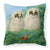 Buy this Owlets and Butterfly by Sarah Adams Canvas Decorative Pillow