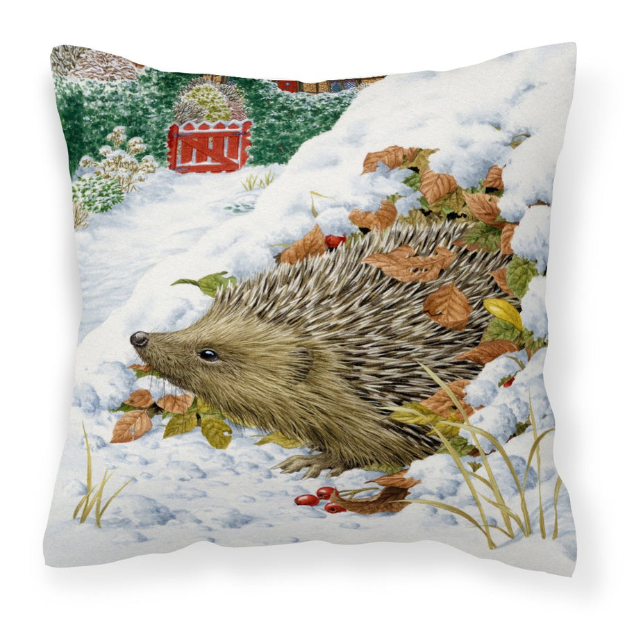 Buy this Hedgehog and Red Gate Cottage Canvas Decorative Pillow