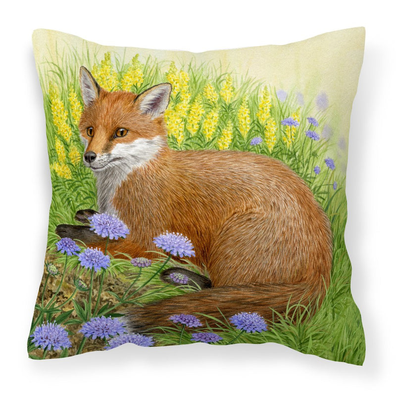 Buy this Fox in Flowers by Sarah Adams Canvas Decorative Pillow