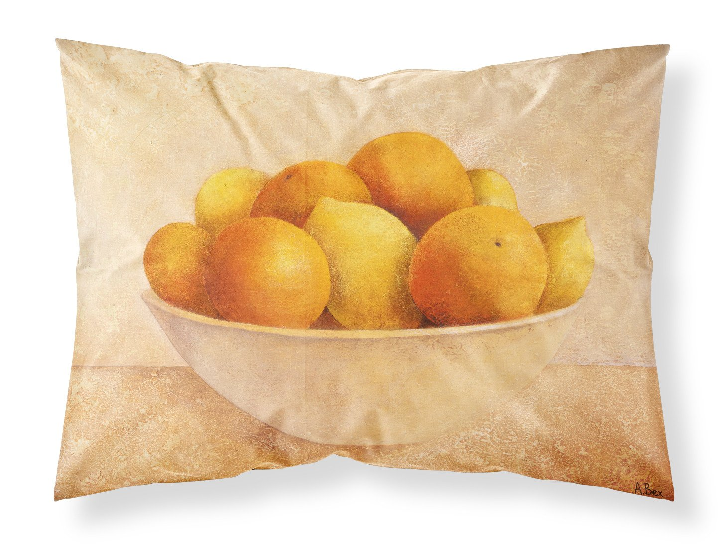 Oranges & Lemons in a Bowl Fabric Standard Pillowcase BABE0085PILLOWCASE by Caroline's Treasures