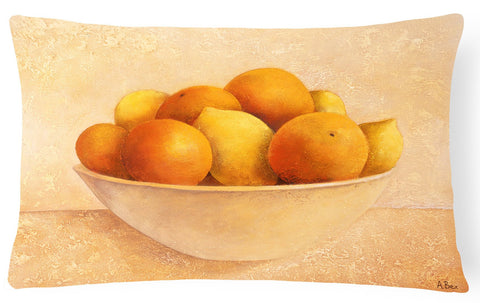 Buy this Oranges & Lemons in a Bowl Fabric Decorative Pillow BABE0085PW1216