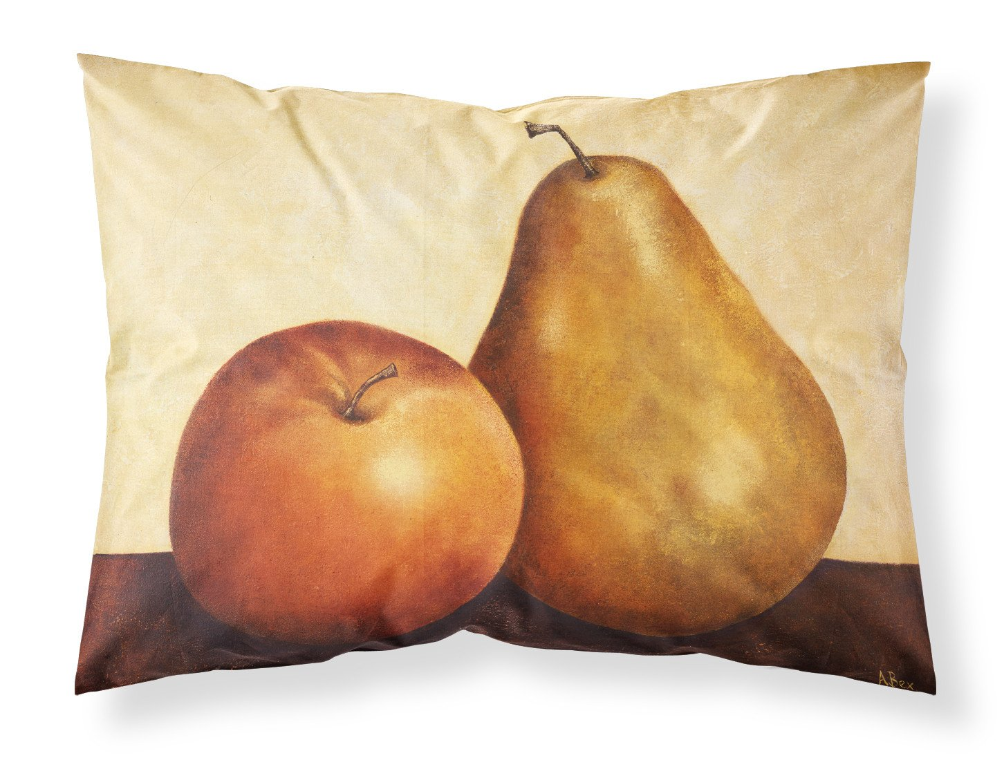 Apple and Pear Fabric Standard Pillowcase BABE0089PILLOWCASE by Caroline's Treasures