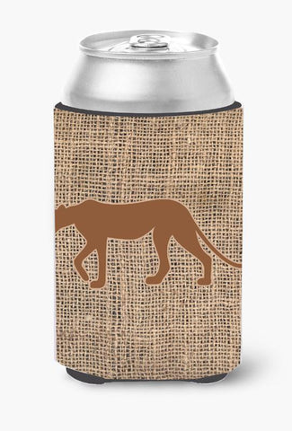 Buy this Leopard Burlap and Brown Can or Bottle Beverage Insulator Hugger