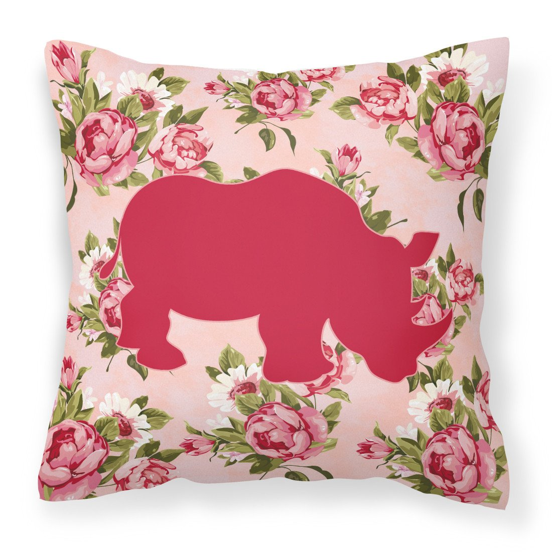 Buy this Rhinoceros Shabby Chic Pink Roses   Fabric Decorative Pillow BB1006-RS-PK-PW1414