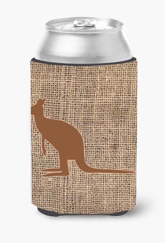 Buy this Kangaroo Burlap and Brown Can or Bottle Beverage Insulator Hugger