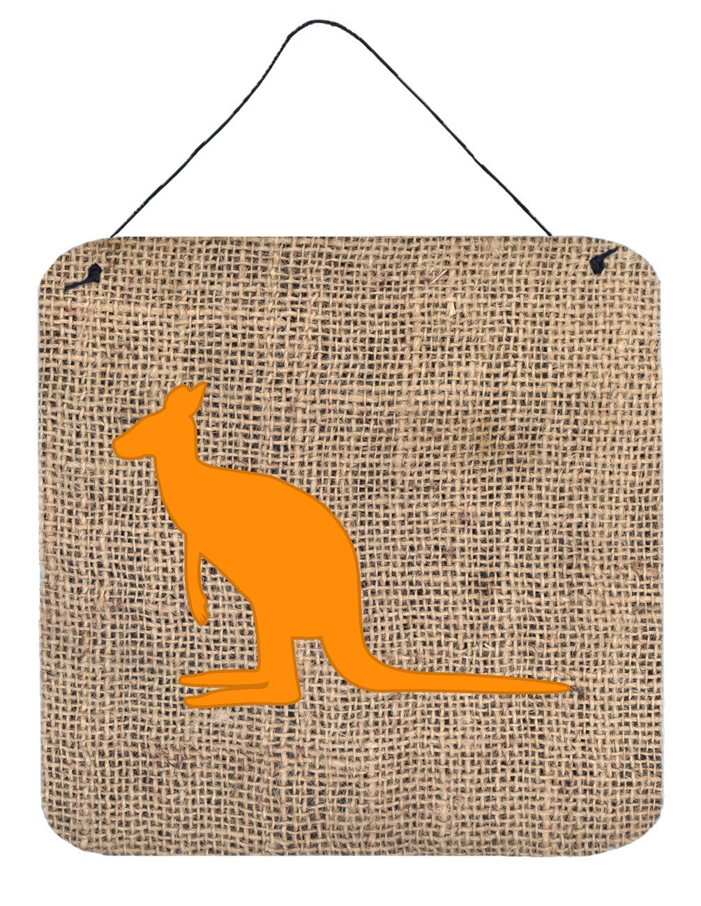 Buy this Kangaroo Burlap and Orange Aluminium Metal Wall or Door Hanging Prints BB1008