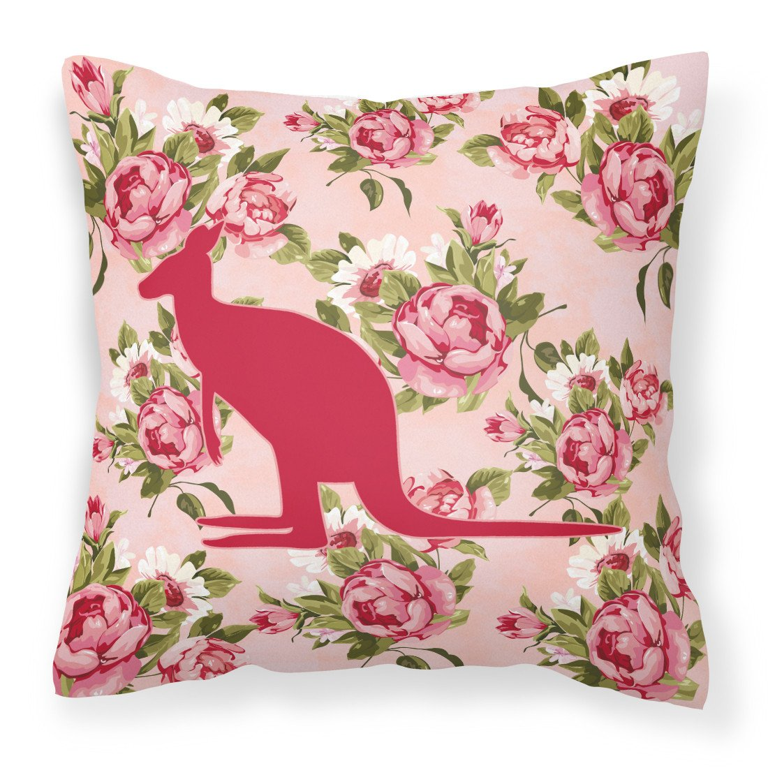 Buy this Kangaroo Shabby Chic Pink Roses   Fabric Decorative Pillow BB1008-RS-PK-PW1414