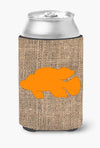 Fish - Tropical Fish Burlap and Orange Can or Bottle Beverage Insulator Hugger BB1013 by Caroline's Treasures