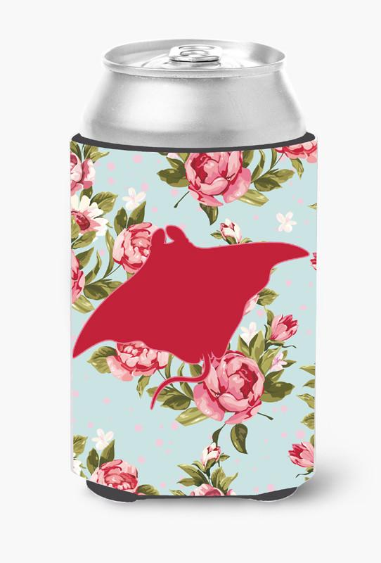 Buy this Manta ray Shabby Chic Blue Roses Can or Bottle Beverage Insulator Hugger BB1014