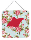 Manta ray Shabby Chic Blue Roses Wall or Door Hanging Prints BB1014 by Caroline's Treasures