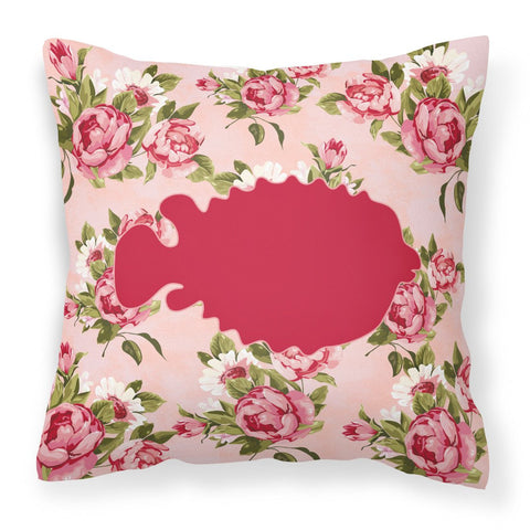 Buy this Fish - Blowfish Shabby Chic Pink Roses  Fabric Decorative Pillow BB1016-RS-PK-PW1414
