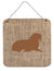 Walrus Burlap and Brown Aluminium Metal Wall or Door Hanging Prints BB1017 by Caroline's Treasures