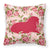 Walrus Shabby Chic Pink Roses  Fabric Decorative Pillow BB1017-RS-PK-PW1414 by Caroline's Treasures