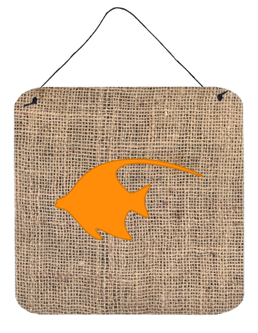 Buy this Fish - Angel Fish Burlap and Orange Wall or Door Hanging Prints BB1019