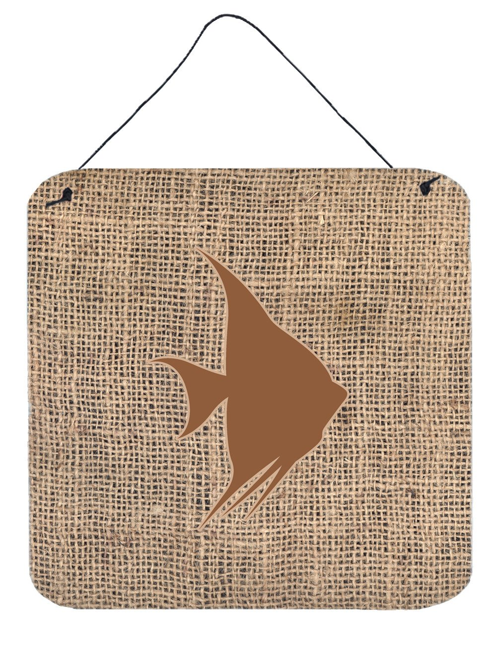 Buy this Fish - Angel Fish Burlap and Brown Wall or Door Hanging Prints BB1022