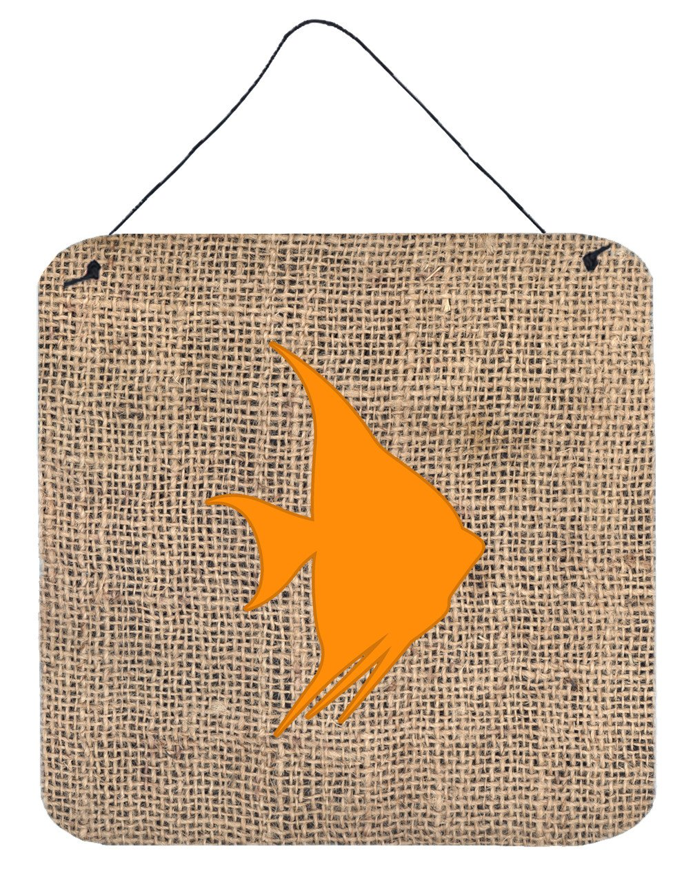 Buy this Fish - Angel Fish Burlap and Orange Wall or Door Hanging Prints BB1022