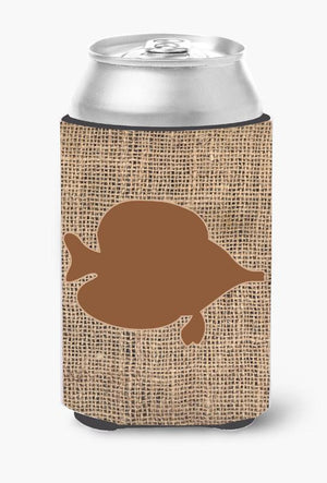 Buy this Fish - Tang Fish Burlap and Brown Can or Bottle Beverage Insulator Hugger