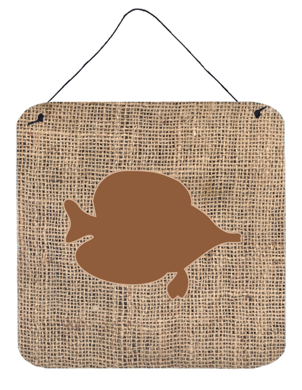 Buy this Fish - Tang Fish Burlap and Brown Wall or Door Hanging Prints BB1023