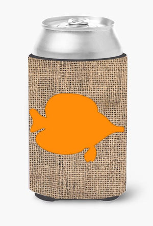 Buy this Fish - Tang Fish Burlap and Orange Can or Bottle Beverage Insulator Hugger BB1023