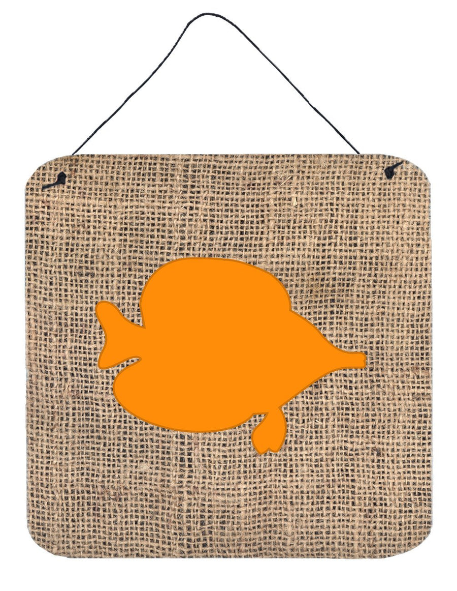 Buy this Fish - Tang Fish Burlap and Orange Wall or Door Hanging Prints BB1023
