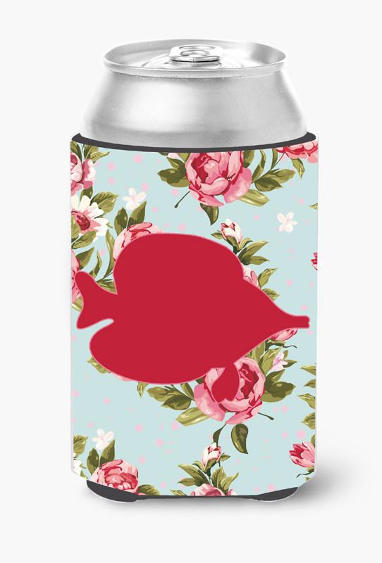 Buy this Fish - Tang Fish Shabby Chic Blue Roses Can or Bottle Beverage Insulator Hugger BB1023