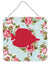 Buy this Fish - Tang Fish Shabby Chic Blue Roses Wall or Door Hanging Prints BB1023