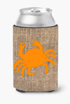 Crab Burlap and Orange Can or Bottle Beverage Insulator Hugger BB1024 by Caroline's Treasures