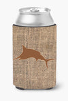 Fish - Marlin Burlap and Brown Can or Bottle Beverage Insulator Hugger by Caroline's Treasures