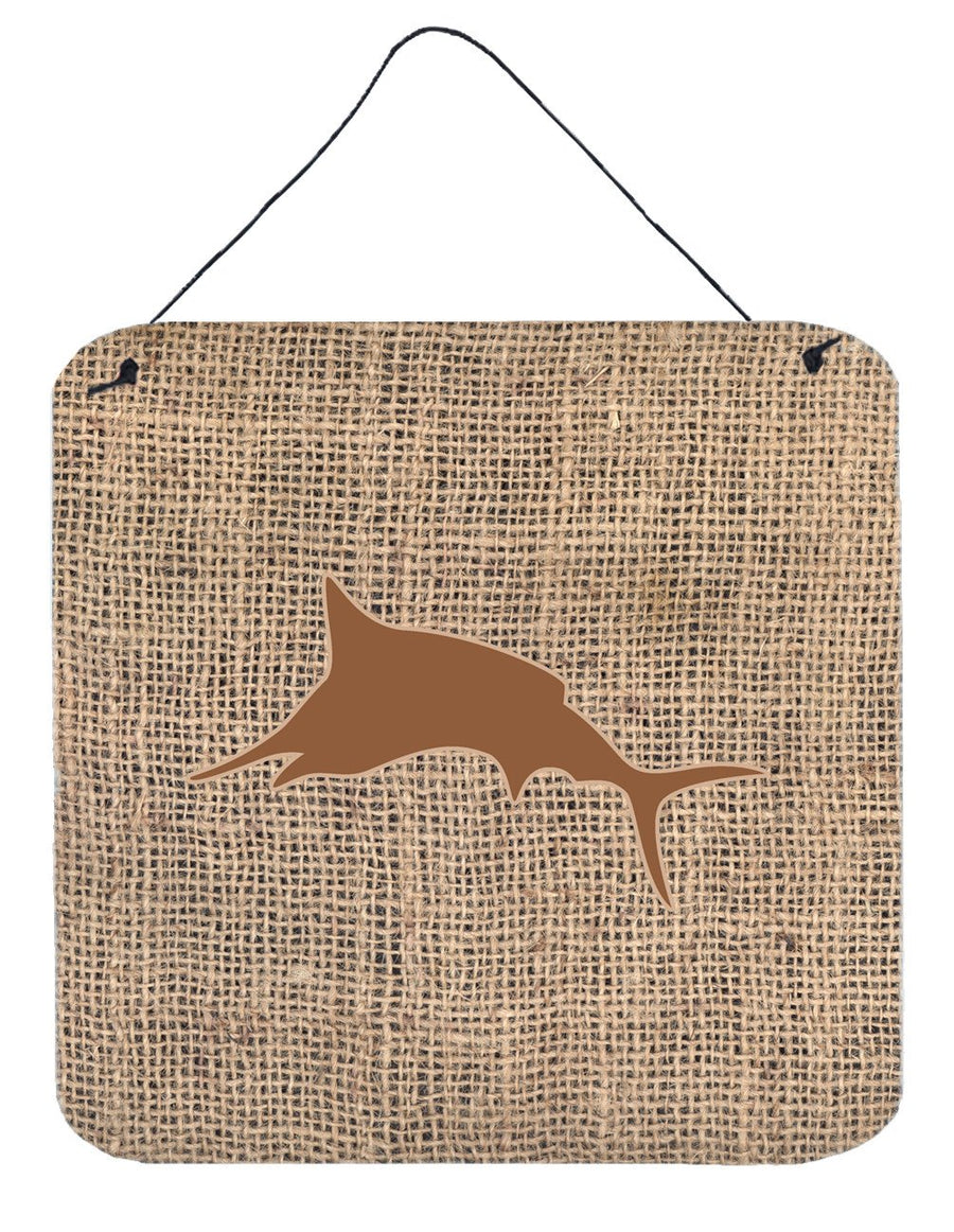 Buy this Fish - Marlin Burlap and Brown Wall or Door Hanging Prints BB1026