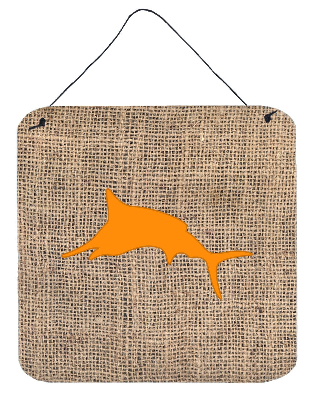 Buy this Fish - Marlin Burlap and Orange Wall or Door Hanging Prints BB1026