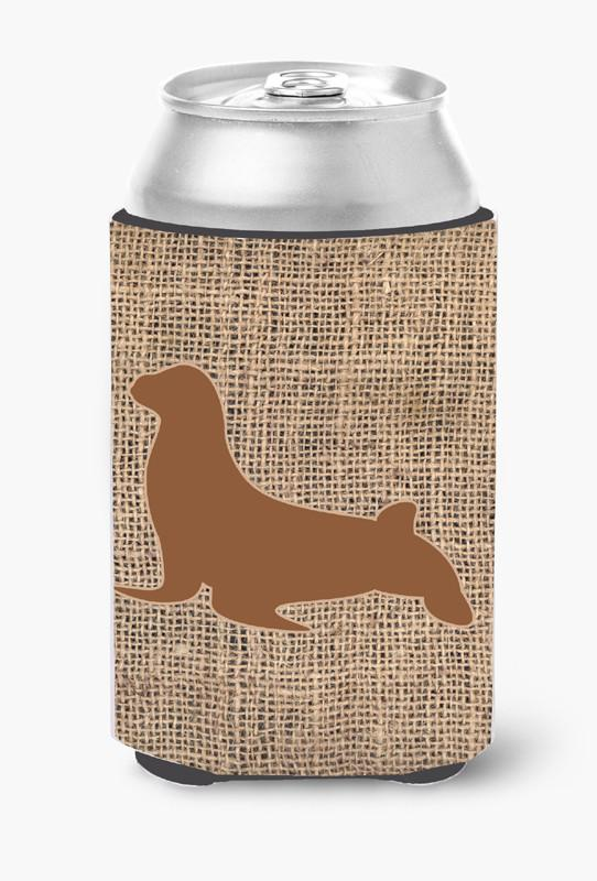 Buy this Seal Burlap and Brown Can or Bottle Beverage Insulator Hugger