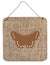 Butterfly Burlap and Brown Aluminium Metal Wall or Door Hanging Prints BB1033 - the-store.com