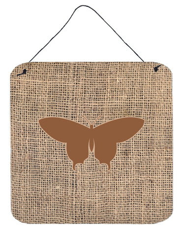 Buy this Butterfly Burlap and Brown Aluminium Metal Wall or Door Hanging Prints BB1042