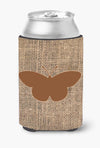 Buy this Butterfly Burlap and Brown Can or Bottle Beverage Insulator Hugger