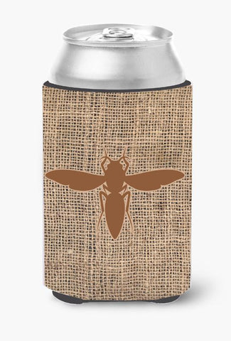 Buy this Yellow Jacket Burlap and Brown Can or Bottle Beverage Insulator Hugger
