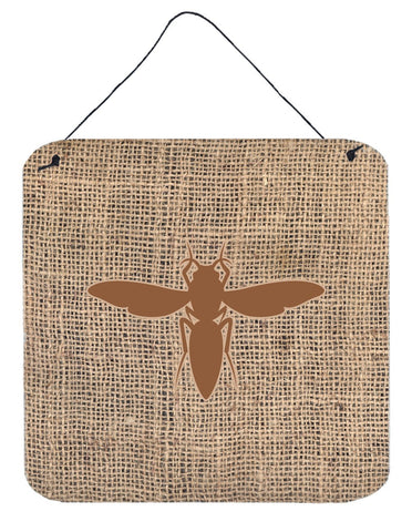 Buy this Yellow Jacket Burlap and Brown Wall or Door Hanging Prints BB1053