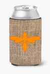 Buy this Wasp Burlap and Orange Can or Bottle Beverage Insulator Hugger