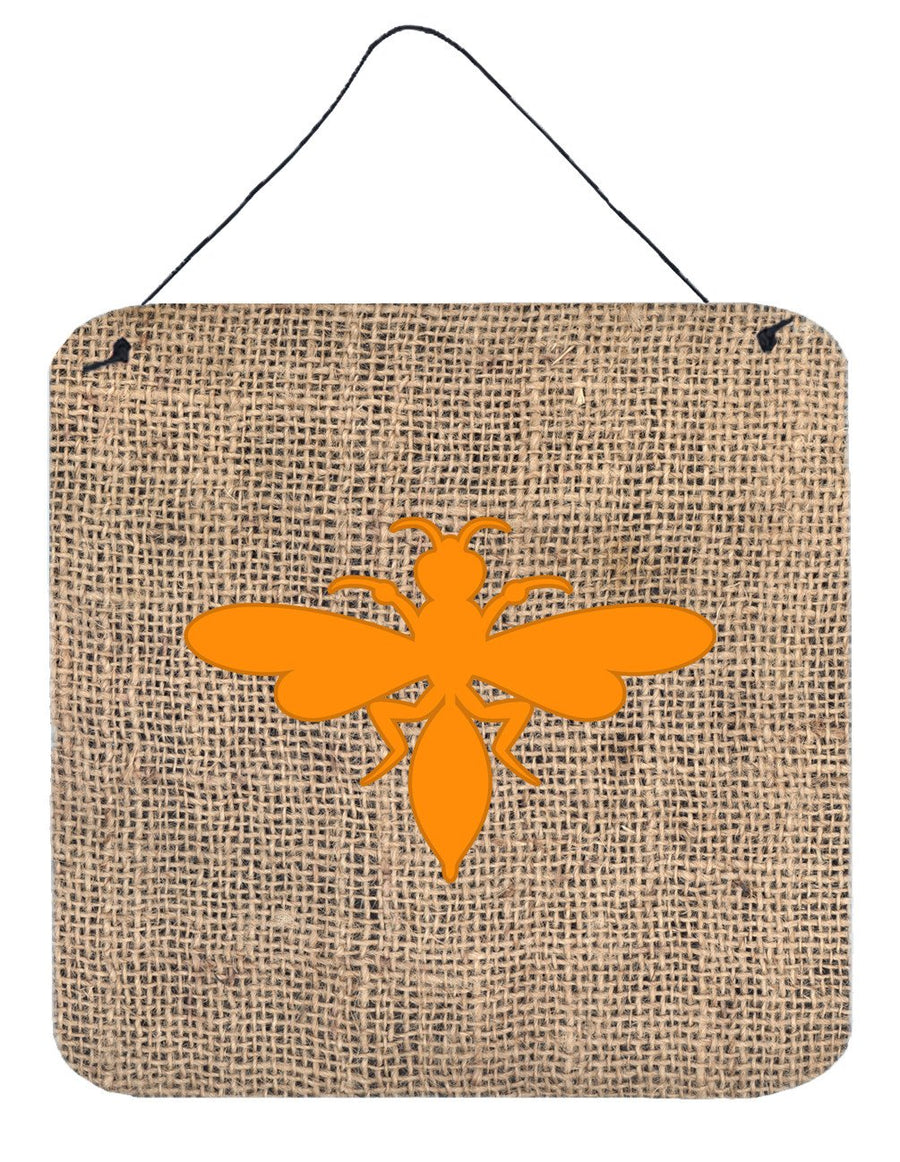 Buy this Wasp Burlap and Orange Aluminium Metal Wall or Door Hanging Prints BB1054