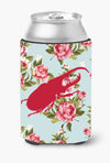 Beetle Shabby Chic Blue Roses Can or Bottle Beverage Insulator Hugger BB1056 by Caroline's Treasures