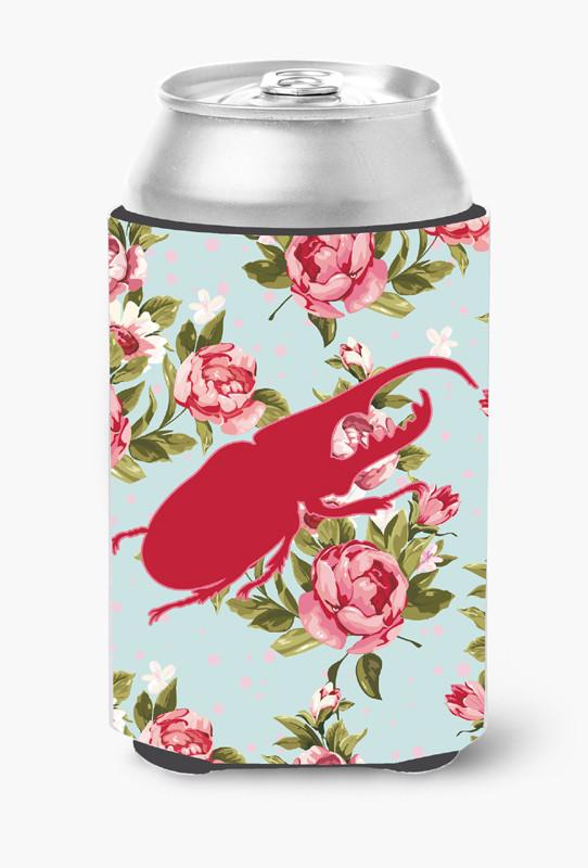 Buy this Beetle Shabby Chic Blue Roses Can or Bottle Beverage Insulator Hugger BB1056