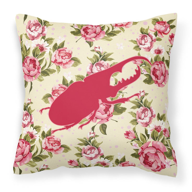 Buy this Beetle Shabby Chic Yellow Roses  Fabric Decorative Pillow BB1056-RS-YW-PW1414