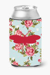 Buy this Moth Shabby Chic Blue Roses Can or Bottle Beverage Insulator Hugger BB1058