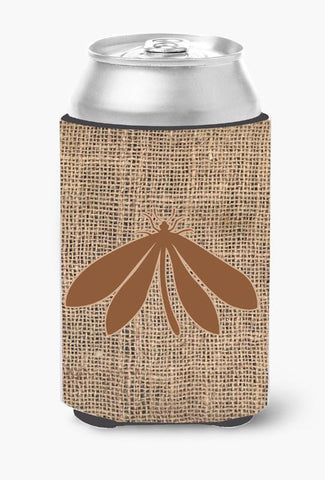 Buy this Moth Burlap and Brown Can or Bottle Beverage Insulator Hugger