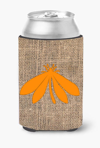 Buy this Moth Burlap and Orange Can or Bottle Beverage Insulator Hugger