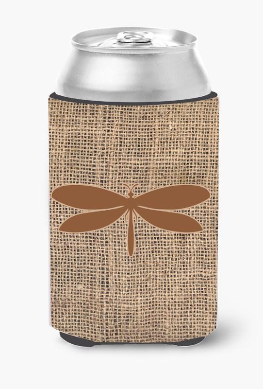 Moth Burlap and Brown Can or Bottle Beverage Insulator Hugger by Caroline's Treasures