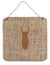 Beetle Burlap and Brown Aluminium Metal Wall or Door Hanging Prints BB1063 by Caroline's Treasures