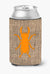 Beetle Burlap and Orange Can or Bottle Beverage Insulator Hugger by Caroline's Treasures
