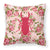 Buy this Beetle Shabby Chic Pink Roses  Fabric Decorative Pillow BB1063-RS-PK-PW1414