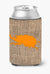 Buy this Beetle Burlap and Orange Can or Bottle Beverage Insulator Hugger